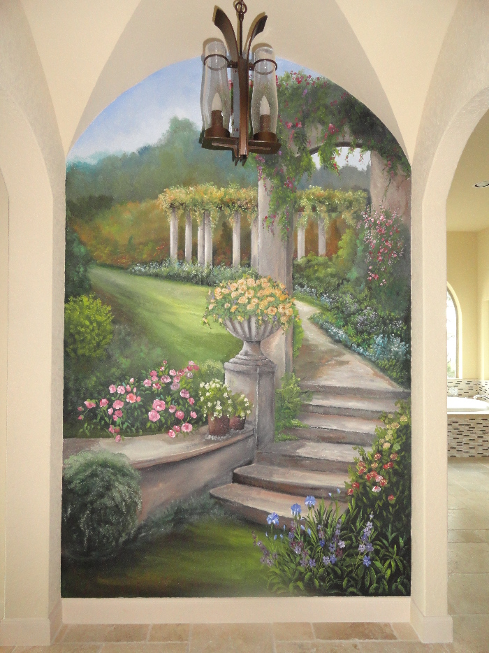 Landscape Garden Mural  Mural Photo Album By Norma Ruffinelli