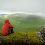 Ben Campbell hiking in Faroe Islands.