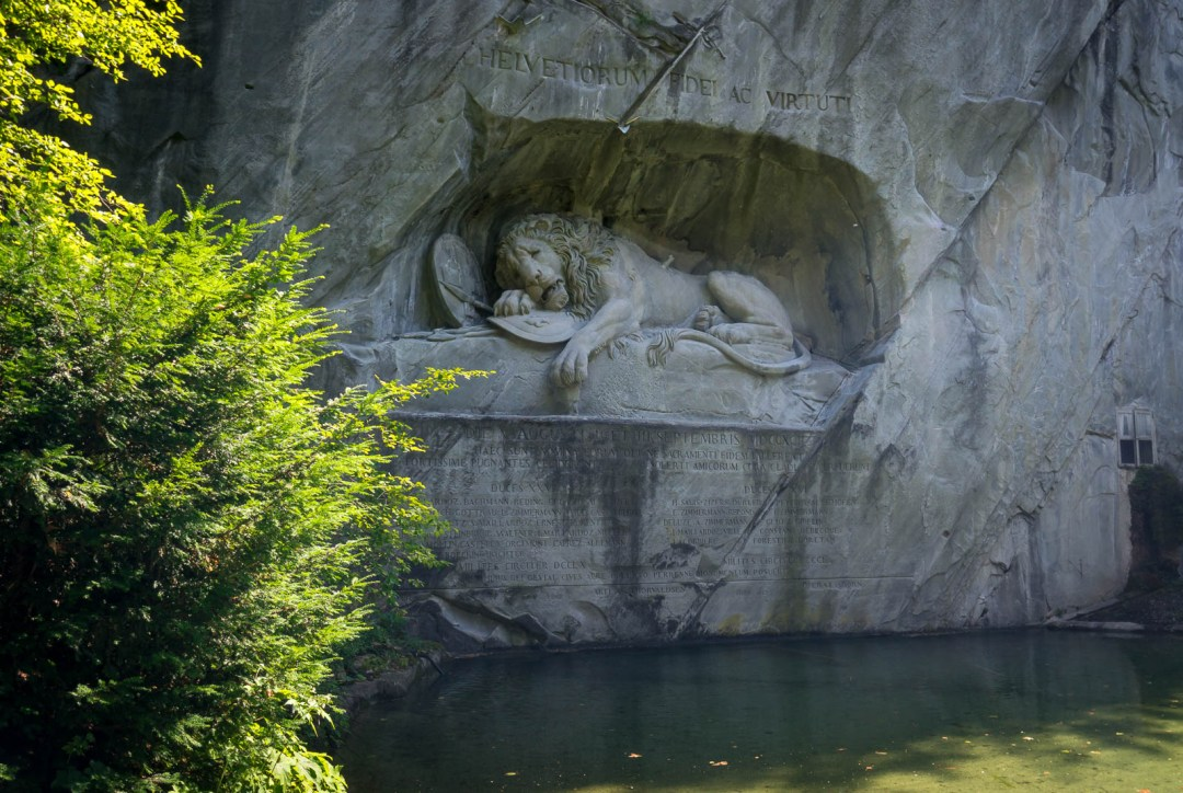 Dying Lion Monument in Lucerne Switzerland.