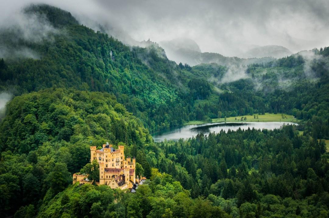 Hohenschwangau Castle near Neuschwanstein and Fussen Germany.