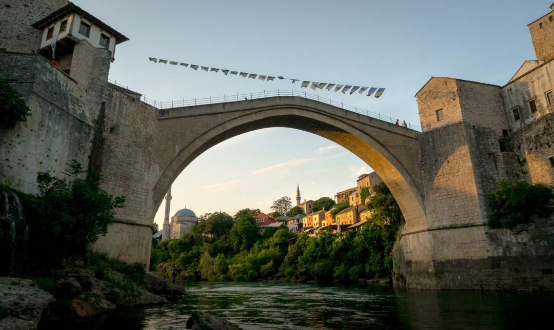 Stari Most bridge Mostar from below.