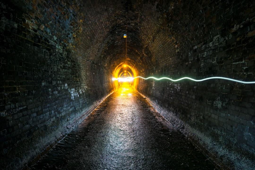 POW: Oncoming Traffic in the Karangahake Gorge Tunnel
