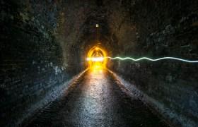 POW: Oncoming Traffic in the Karanghake Gorge Tunnel