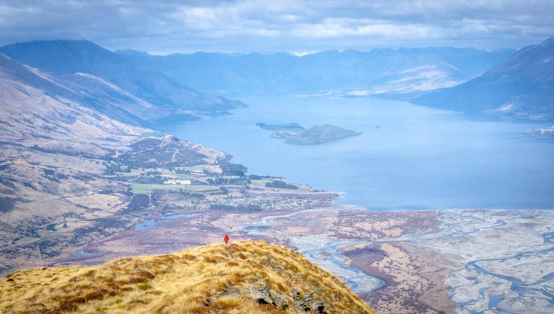 Ben walking along Mount Alfred ridge above Glenorchy