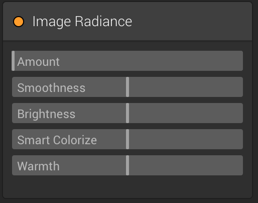 Image Radiance Filter in Luminar