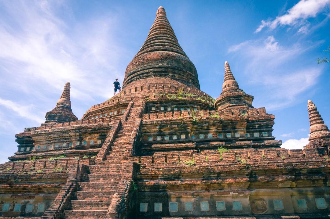 Ben Standing on top of Pagoda