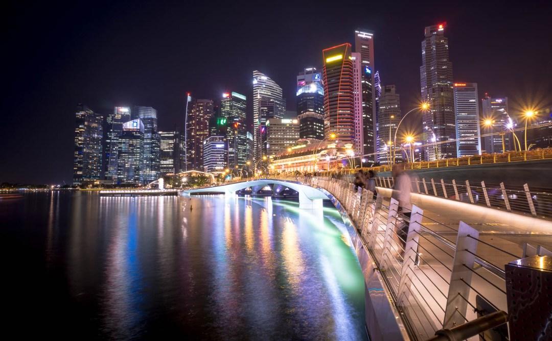 Esplande Bridge in Marina Bay