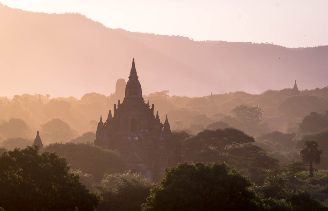 South Guni Temple at sunset