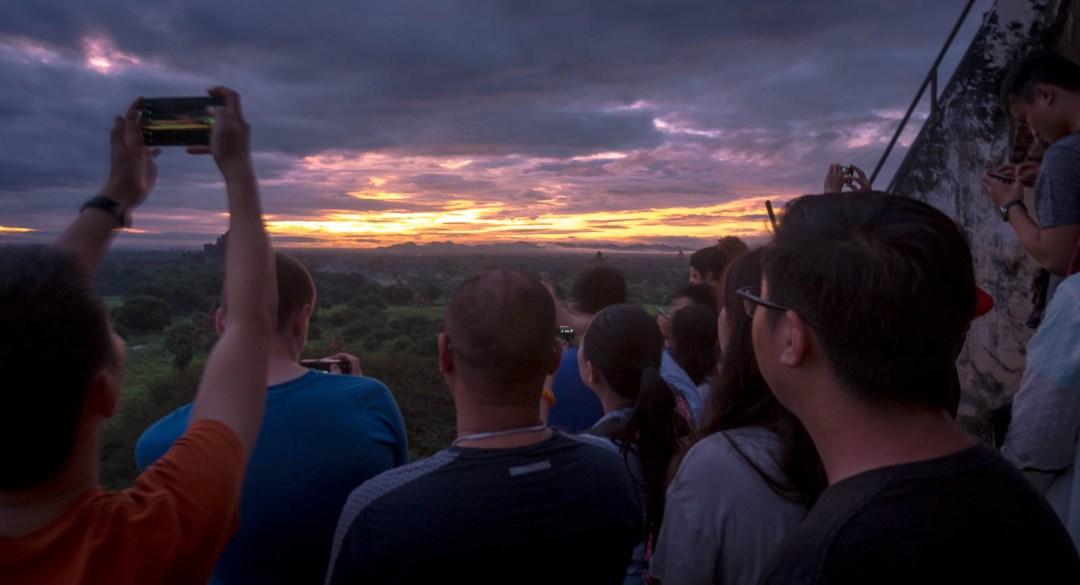 Tourists on top of Shwe San Daw