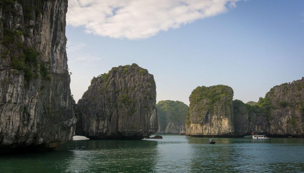 Limestone pillars of Ha Long bay