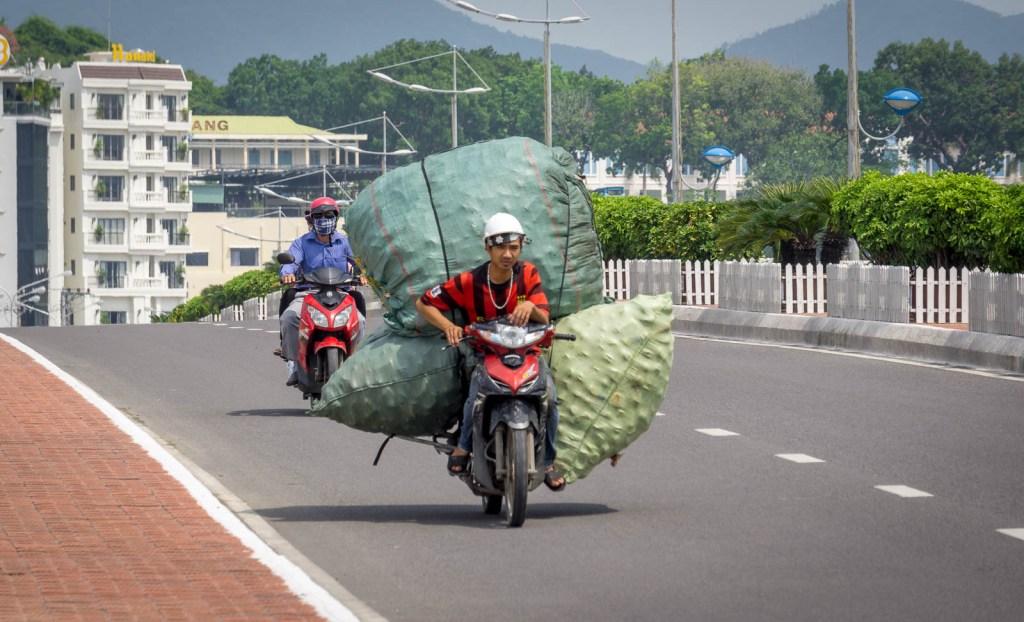 Motorbike loaded full in Vietnam