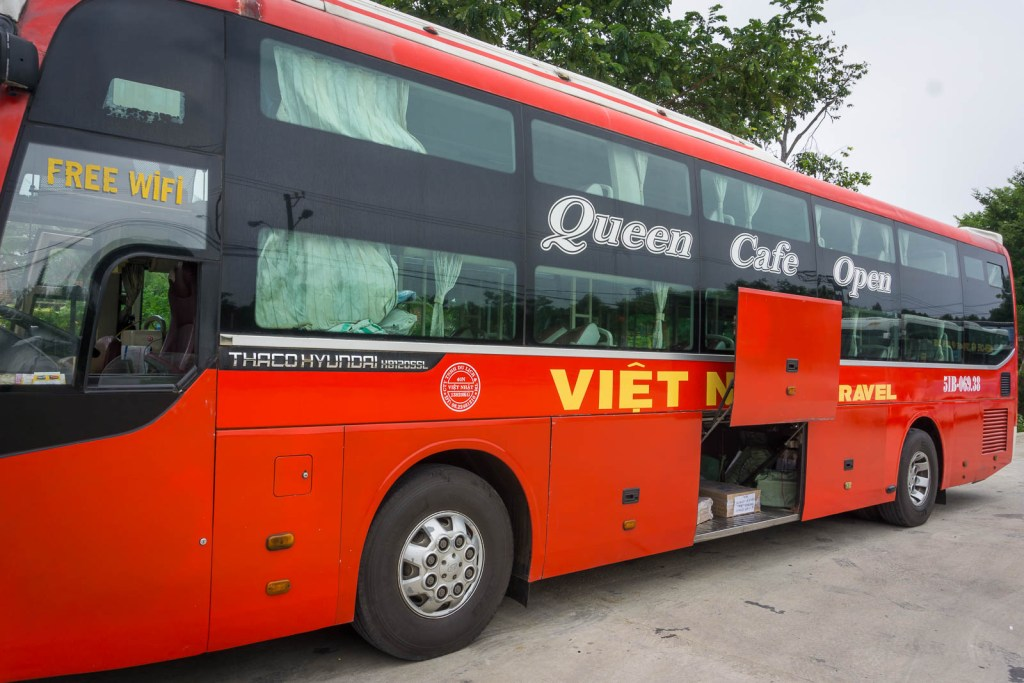 Overnight bus in Vietnam