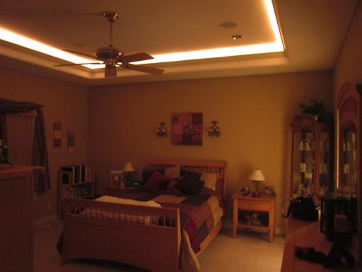 bedroom mood lighting by electrician