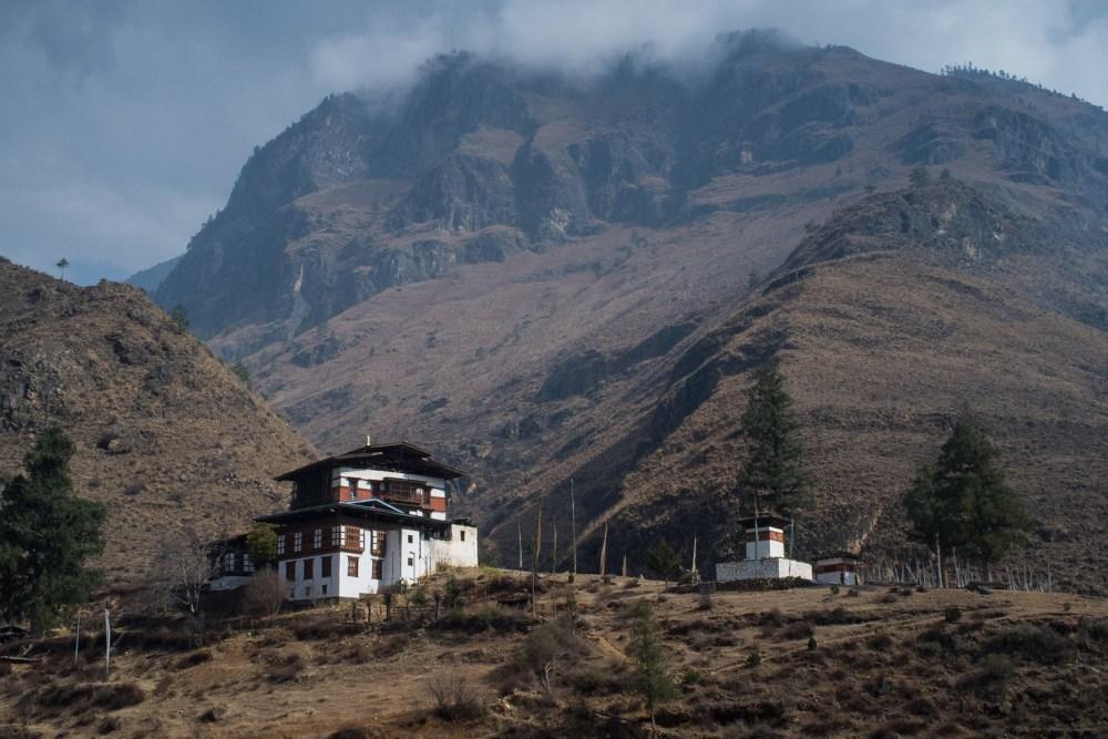 Tamchog lhakhang Side view