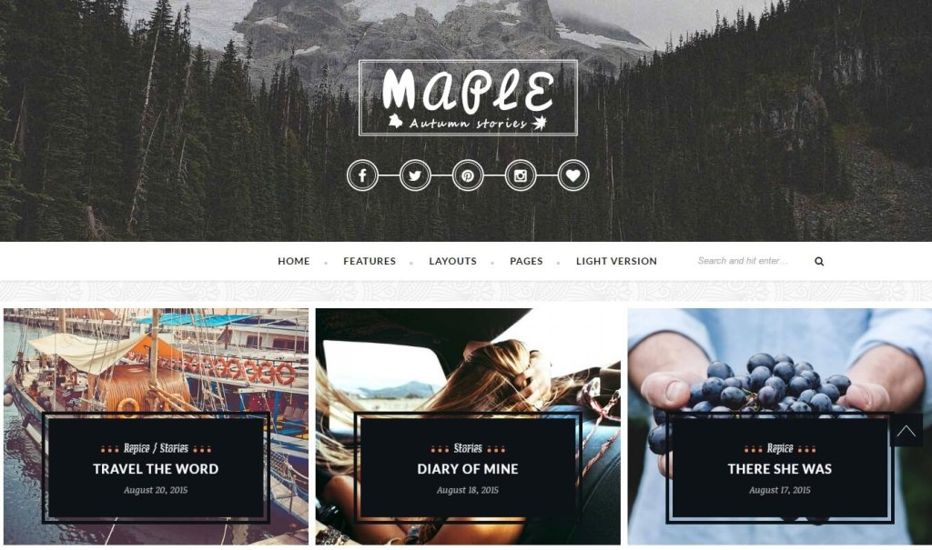 Maple WordPress Theme