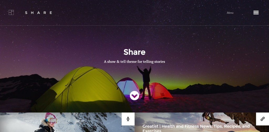 share wordpress theme