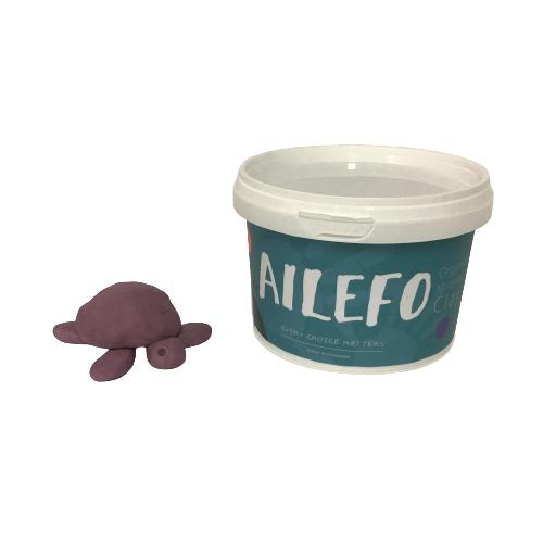 Ailefo økologisk modellervoks - stor bøtte - Lilla