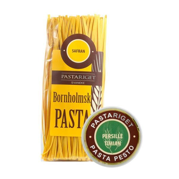 Safran Pasta & Persille Timian Pesto, Pastariget Bornholm