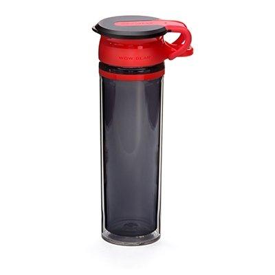 WOW - Sport Bottle Tritan 600 ml - Rød/Sort