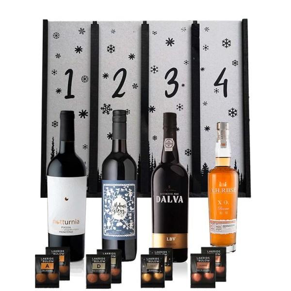 Adventskalender med Rødvin, Glögg, Portvin & Rom