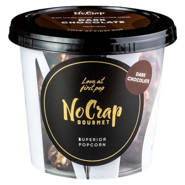 Popcorn med mørk chokolade, No Crap