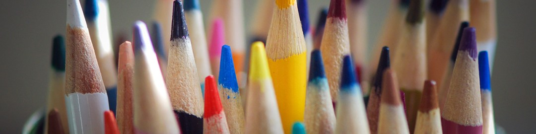 Puntas de lápices a colores