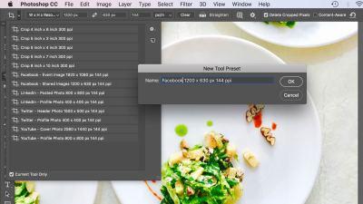 Captura del cuadro de diálogo para indicar el nombre de ajuste en Adobe Photoshop
