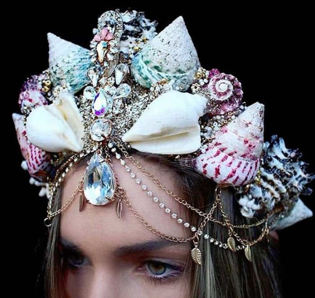 Mermaid Crowns Real Seashells