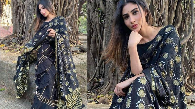 Mouni Roy does pre-Diwali fashion right, looks refreshing in Rs 3.5k black cotton silk sharara set