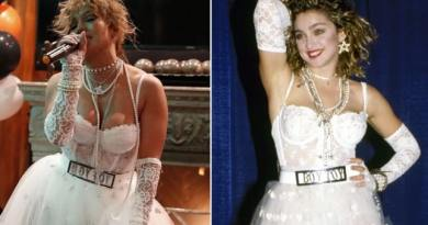 Jennifer Lopez Channels Madonna's Iconic Like a Virgin Bride for Halloween
