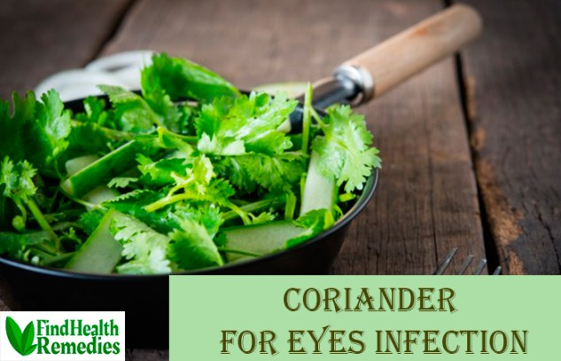 Coriander for Eyes Infection