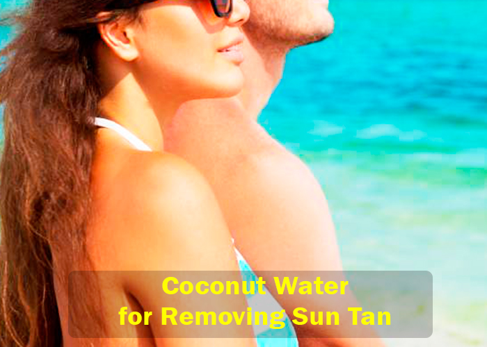 Coconut Water for Sun Tan Removal