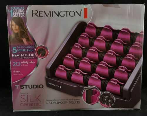 Remington H9096B Pink Silk Ceramic Heated Clip Setter