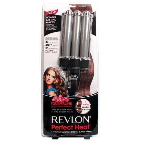 Revlon Perfect Heat Tourmaline Ceramic 3-Barrel Jumbo Waver