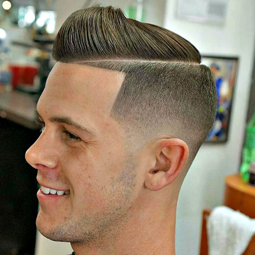 Erkekler için Buzz Fade Saç Modelleri