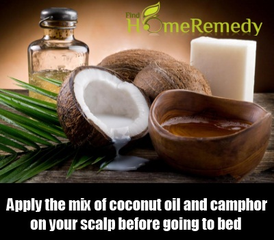 coconut oil and camphor