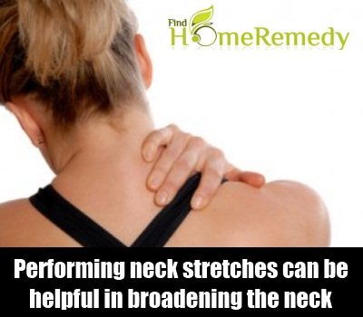 Performing neck stretches