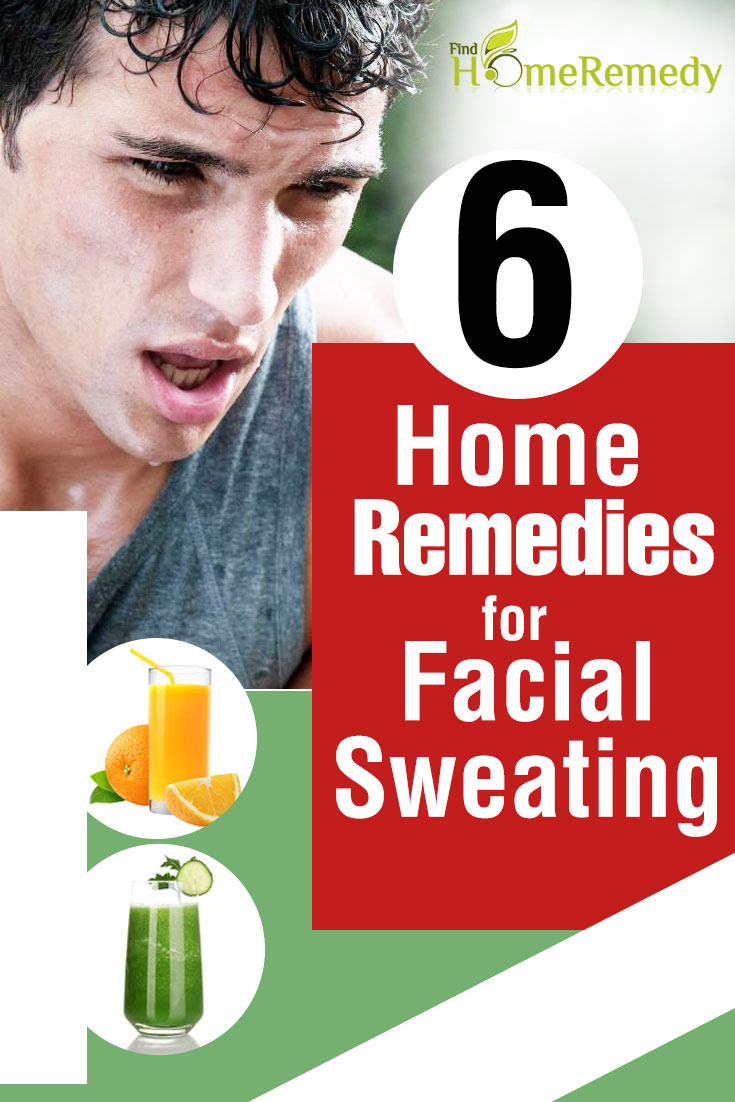 Home remedy for facial hyperhydrosis