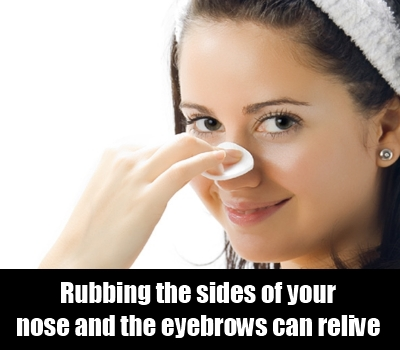 Rub The Sides Of Your Nose