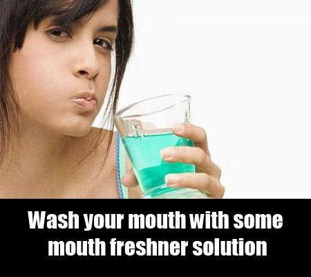 wash your mouth