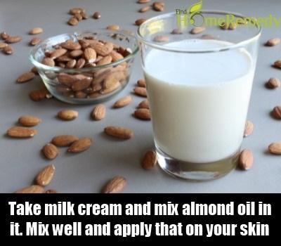 Milk cream And Almond