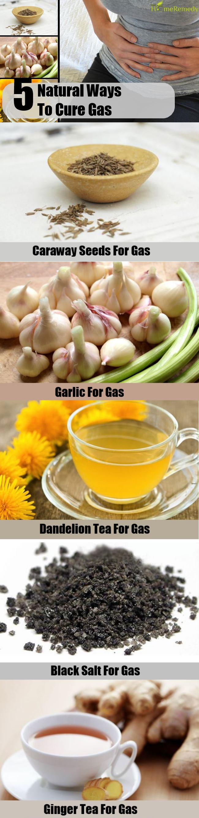 5 Natural Ways To Cure Gas