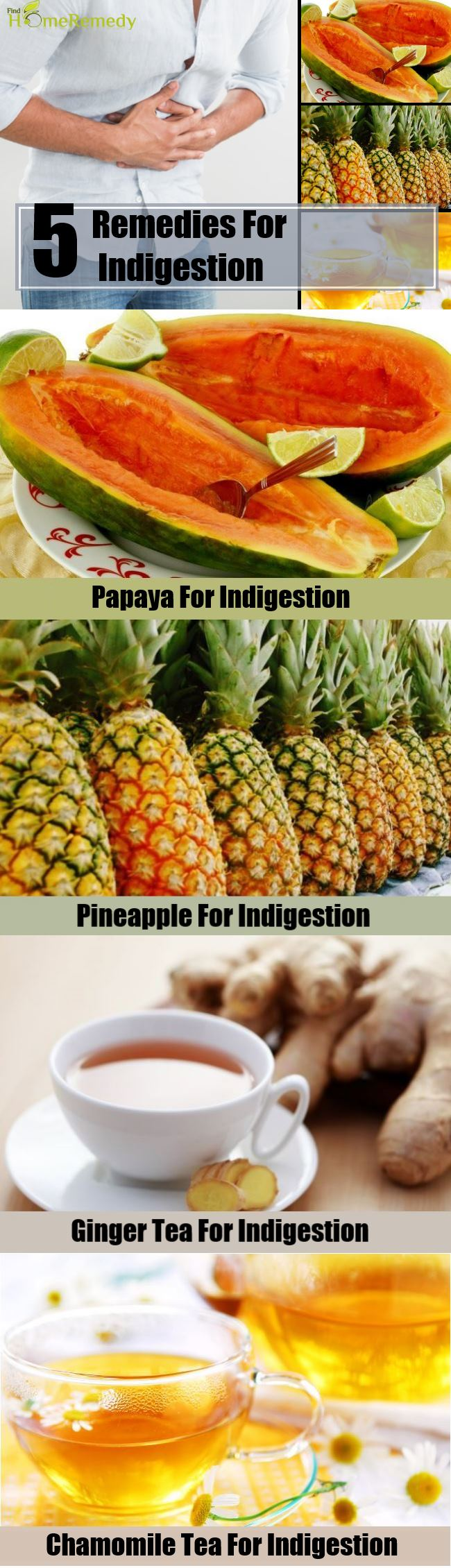 5 Remedies For Indigestion