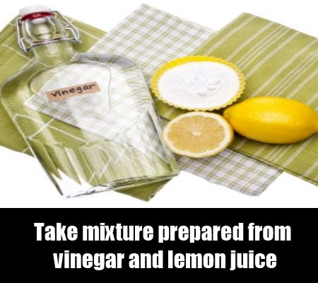 Lemon Juice And Vinegar