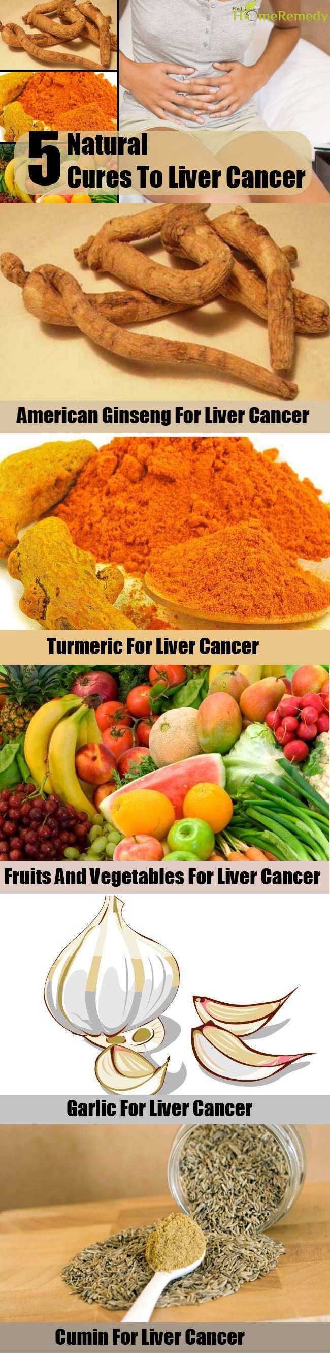 5 Natural Cure To  Liver Cancer