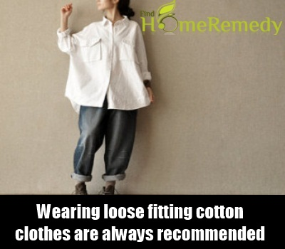 Loose fitting clothes