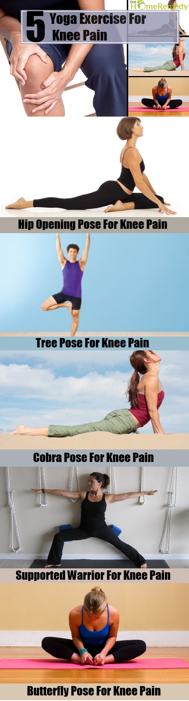 5 Yoga Exercise For Knee Pain
