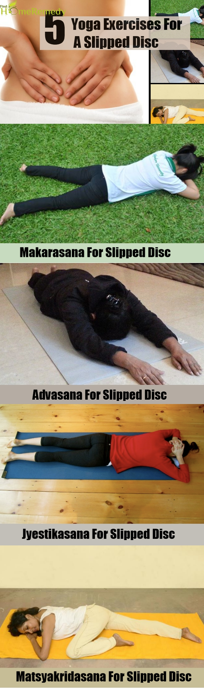 Top 5 Yoga Exercises For A Slipped Disc