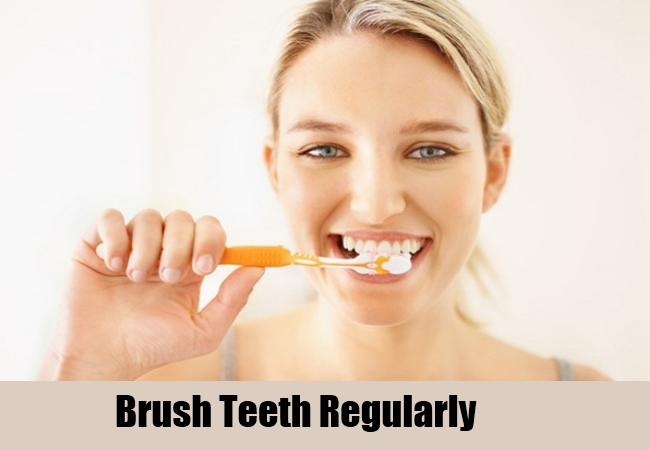 Brush Teeth Regularly