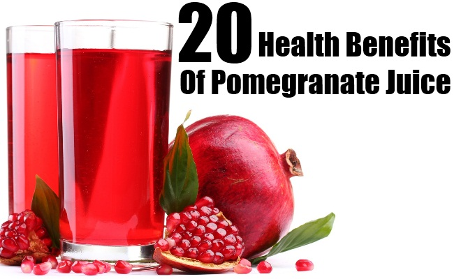 20 Superb Health Benefits Of Pomegranate Juice
